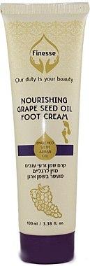 Питательный крем для ног на основе масла виноградных косточек и масла аргана - Finesse