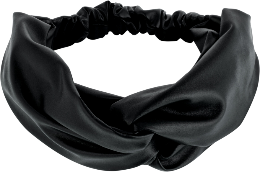"Повязка на голову, экокожа переплет, чёрная ""Faux Leather Twist"" - Makeup Hair Accessories"