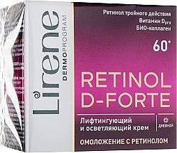 Духи, Парфюмерия, косметика Лифтингующий и осветляющий антивозростной дневной крем для лица - Lirene Retinol D-Forte Lifting Brightener Cream 60+