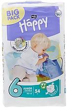 """Духи, Парфюмерия, косметика Детские подгузники """"Happy"""" Junior Extra 6 (16+ кг, 54 шт) - Bella Baby"""