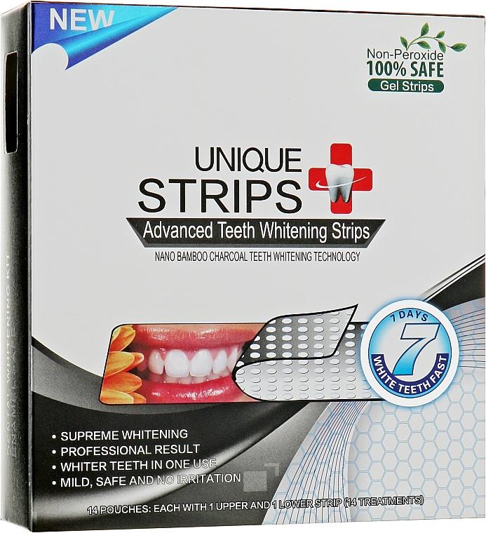 Полоски для домашнего отбеливания зубов - Unique Strips Black Intensive