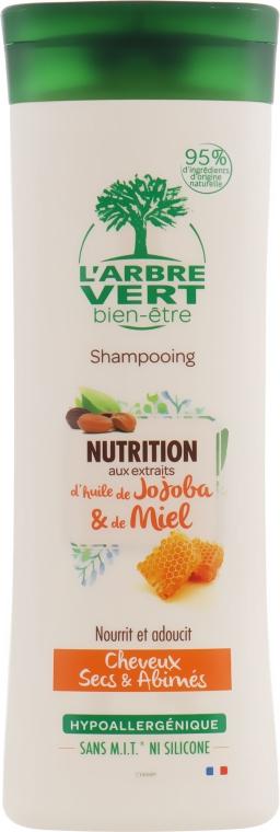 Шампунь питательный с экстрактами масла жожоба и меда - L'Arbre Vert Shampoo