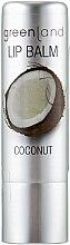 """Духи, Парфюмерия, косметика Бальзам для губ """"Кокос"""" - Greenland Lip Balm Coconut"""