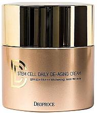 Духи, Парфюмерия, косметика Крем DD солнцезащитный антивозрастной - Deoproce Stem Cell Daily-aging Cream (пробник)