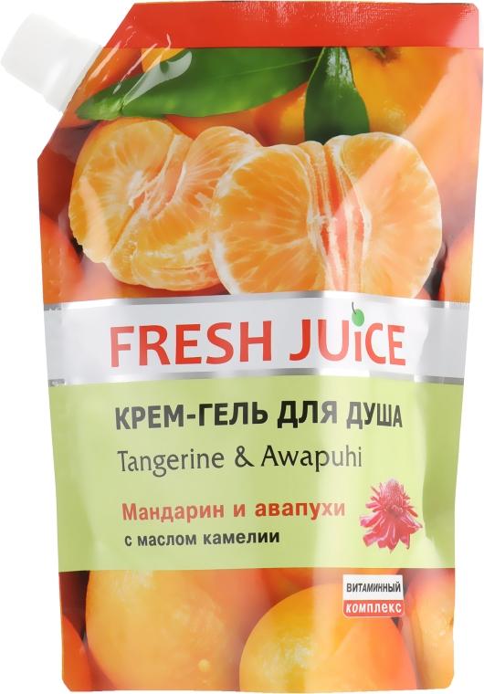 "Крем-гель для душа ""Мандарин и Авапухи"" - Fresh Juice Hawaiian Paradise Tangerine & Awapuhi (дой-пак)"