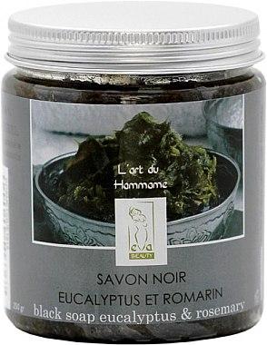 Черное мыло с маслами Эвкалипта и Розмарина - Eva Beauty