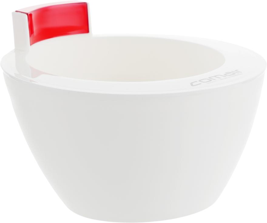 Миска для размешивания краски, белая с красным - Comair