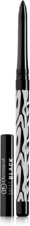 Матовый карандаш для глаз - Dermacol Make-Up Black Sensation Matt black