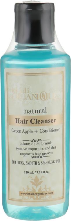"""Натуральный травяной аюрведический шампунь """"Яблоко"""" - Khadi Organique Hair Cleanser Green Apple + Conditioner"""