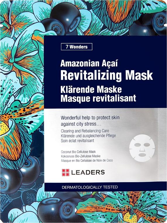 Восстанавливающая маска для лица с ягодами асаи - Leaders 7 Wonders Amazonian Acai Revitalizing Mask