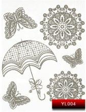Духи, Парфюмерия, косметика Наклейки для дизайна ногтей - Kodi Professional Nail Art Stickers YL004