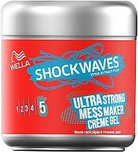 """Парфумерія, косметика Крем-гель для волосся """"Суперсильна фіксація"""" - Wella ShockWaves Ultra Strong Messy Maker Creme Gel"""