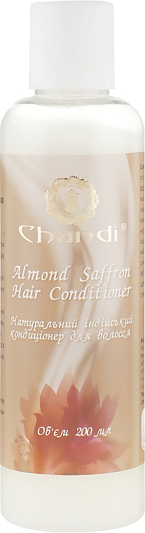 """Натуральный индийский кондиционер """"Миндаль и Шафран"""" для жирных и тонких волос - Chandi Almond Saffron Hair Conditioner"""
