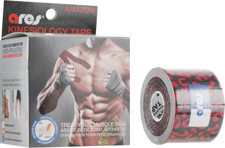 "Кинезио тейп ""Leopard"" - Ares Amazon Kinesio Tape"