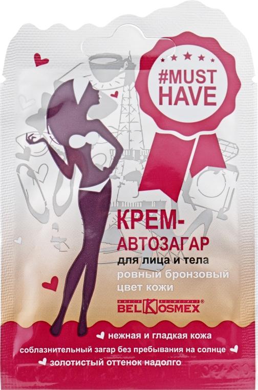 """Крем-автозагар для лица и тела """"Ровный бронзовый цвет кожи"""" - BelKosmex Must Have Self-Tanning Cream"""