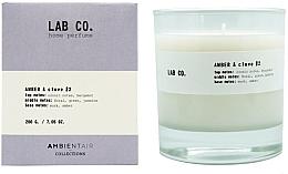 Духи, Парфюмерия, косметика Ароматическая свеча - Ambientair Lab Co. Amber & Clove