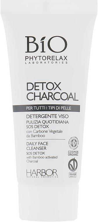 Набор - Phytorelax Laboratories Bio Detox Charcoal (f/gel/40ml + f/milk/40ml + mask/20ml + bag) — фото N4