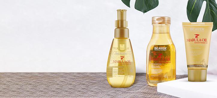 Придбайте шовкову олію марули для волосся, 100 мл від Beaver Professional та отримайте у подарунок набір мініатюр