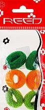 Духи, Парфюмерия, косметика Набор резинок для волос, 7576, 6шт, зеленый + горчичный + салатовый - Reed