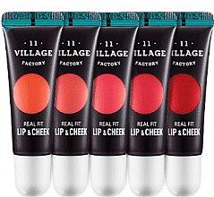 Парфумерія, косметика Тінт для губ і рум'яна, два в одному - Village 11 Factory Real Fit Lip & Cheek