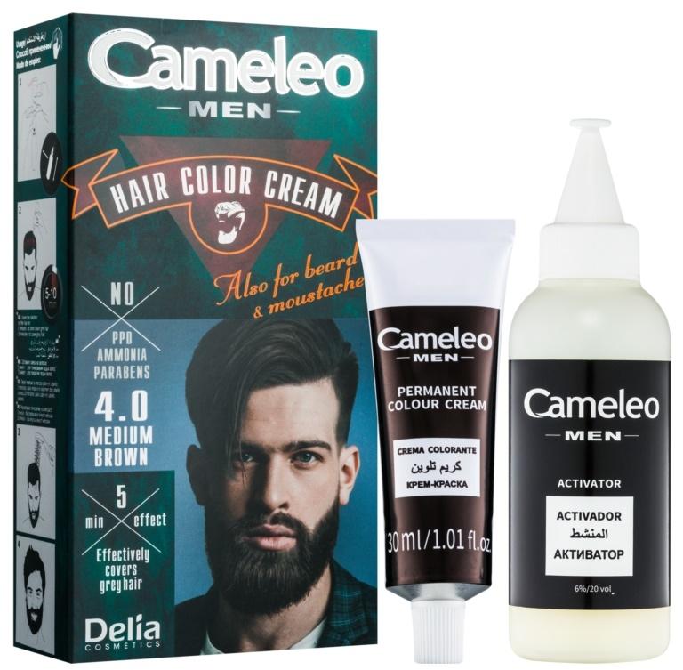 Мужская краска для волос - Delia Cameleo Men Hair Color Cream