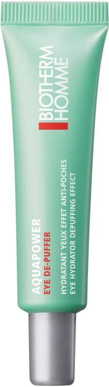 Освежающий гель для кожи вокруг глаз - Biotherm Homme Aquapower Eye De-Puffer