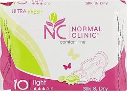 "Духи, Парфюмерия, косметика Прокладки ""Ultra fresh silk dry"", 10шт - Normal Clinic"