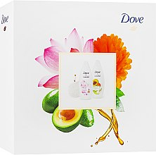 Парфумерія, косметика Набір - Dove (sh/gel/250ml + sh/gel/250ml + sponge)