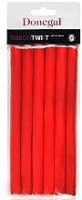 Духи, Парфюмерия, косметика Бигуди для волос 5004, 1,3см/18см, красные - Donegal Ribbon Twist