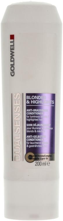 Кондиционер против желтизны для осветленных и мелированных волос - Goldwell Dualsenses Blondes & Highlights Anti-Brassiness Conditioner