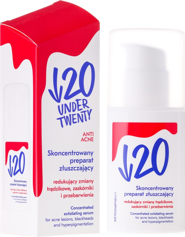 Концентрированное отшелушивающее средство для лица - Under Twenty Anti Acne Concentrated Exfoliating Serum