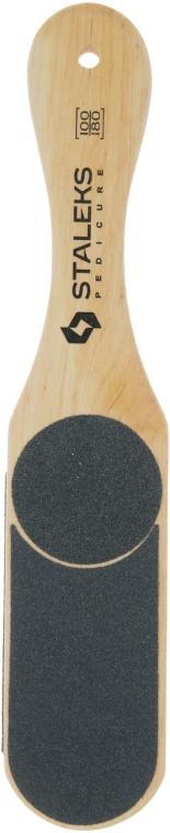 Терка для стоп деревянная ABC 10/3, 60/80/100/120 - Staleks Beauty & Care 10 Type 3