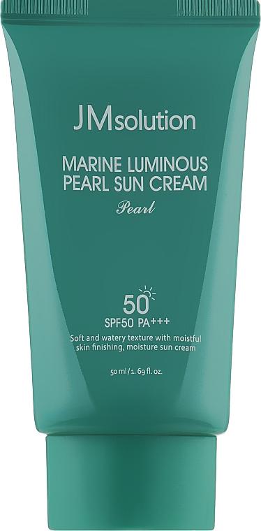 Увлажняющий солнцезащитный крем для лица и тела - JMsolution Marine Luminous Pearl Sun Cream Pearl SPF50 PA++++
