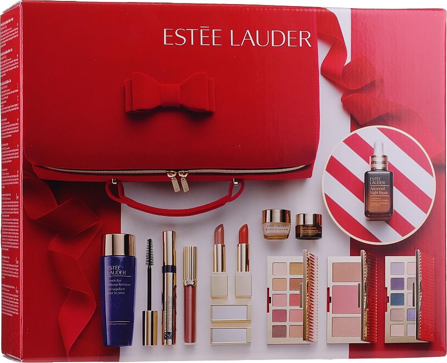 Подарочный набор - Estee Lauder Blockbuster (lip/stick/2x3.5 g + lip/gloss/2.7ml + eye/shadow/2x3.7g + mascara/8ml + contouring/palette/8.7g + f/ser/30ml + eye/cr/15ml + remover/100ml + f/cr/7ml + bag)