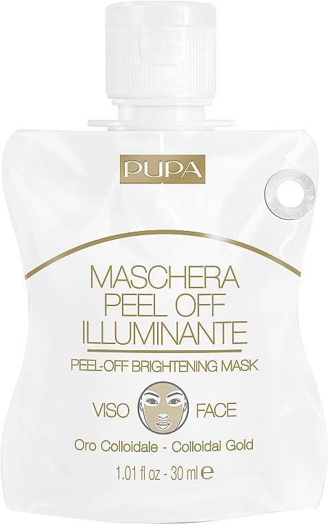 Маска-пленка для сияния кожи лица - Pupa Shachet Mask Peel-Off Brightening Mask