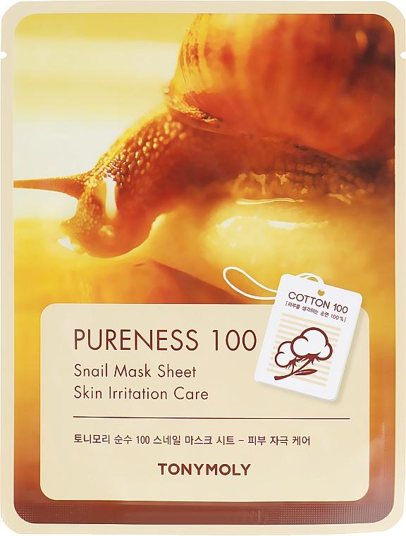 Тканевая маска для лица с улиточным муцином - Tony Moly Pureness 100 Snail Mask Sheet
