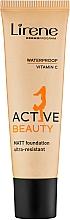 Духи, Парфюмерия, косметика Тональный крем - Lirene Active Beauty Matt Foundation Ultra-Resistant