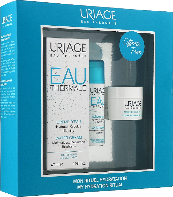 Набор - Uriage Eau Thermale (cr/40 ml + ser/10 ml + mask/15 ml)