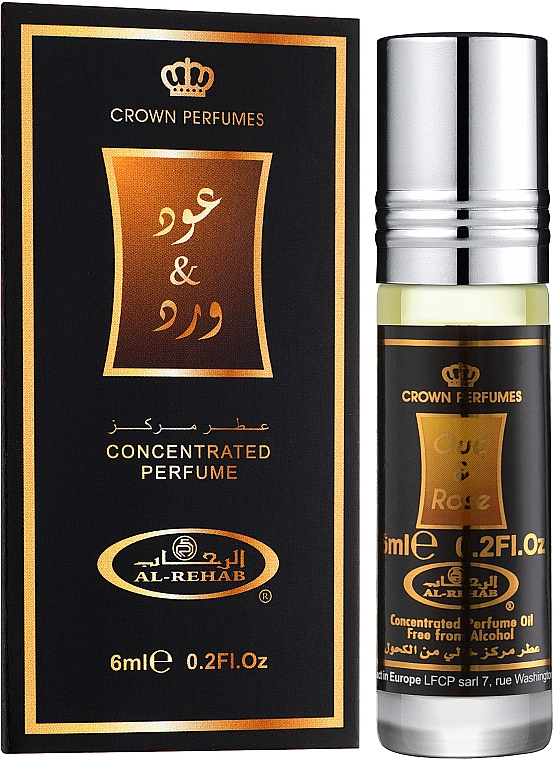 Al Rehab Oud & Rose - Масляные духи