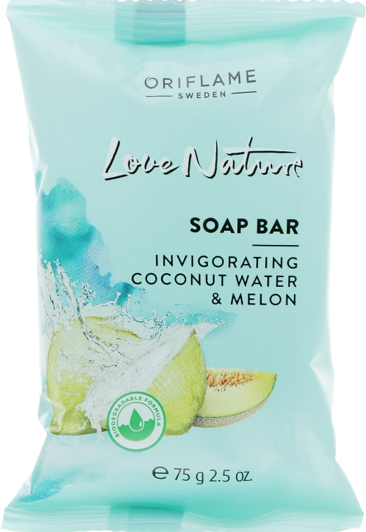"Мыло ""Кокосовая вода и дыня"" - Oriflame Love Nature Coconut Water&Melon Soap"