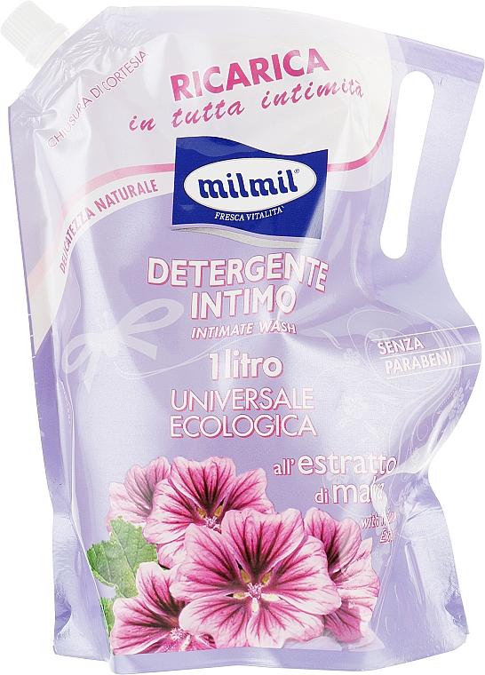 Мыло жидкое для интимной гигиены с экстрактом мальвы - Mil Mil