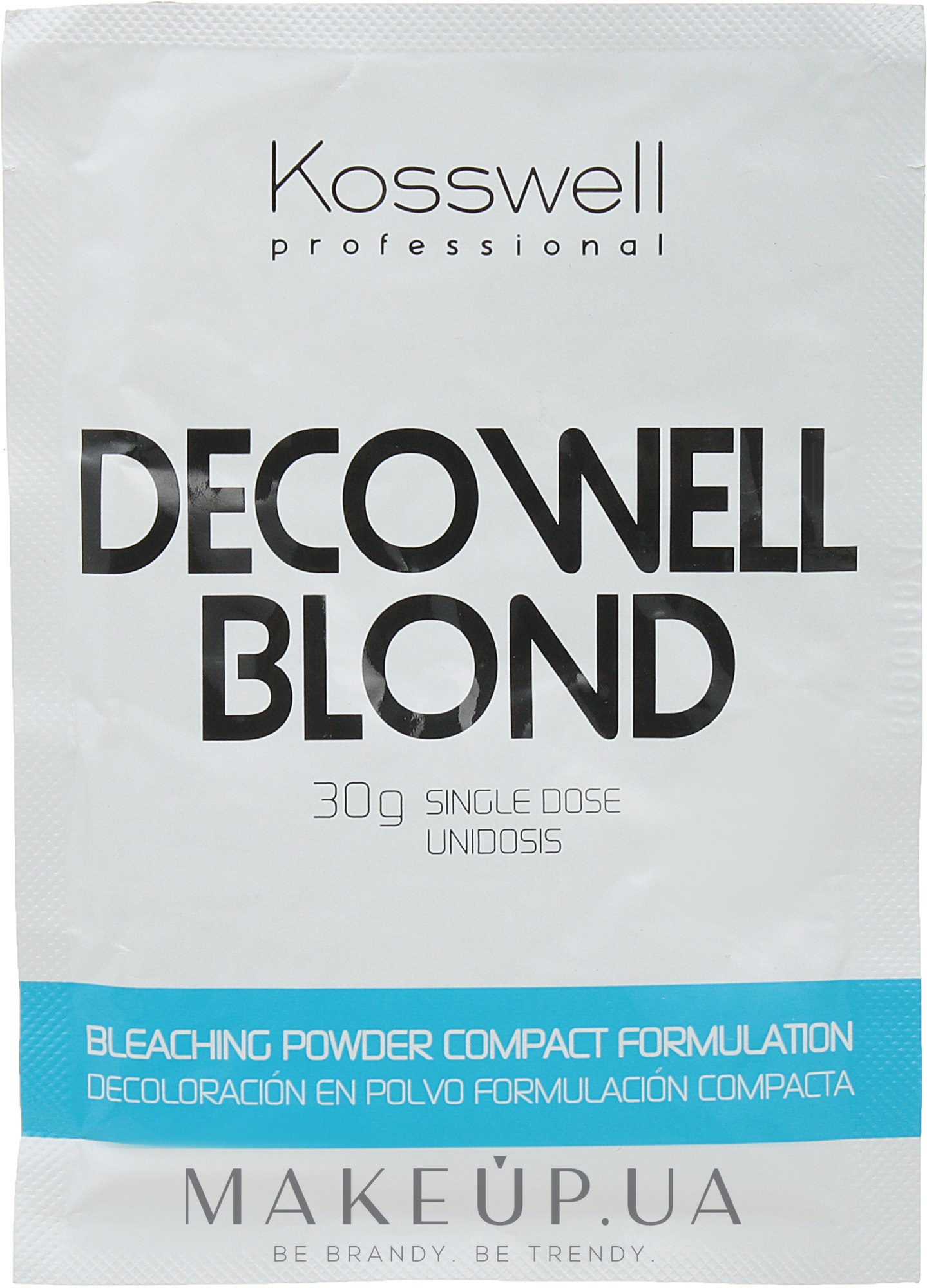 Осветляющий порошок, голубой - Kosswell Professional Decowell Blond — фото 30g
