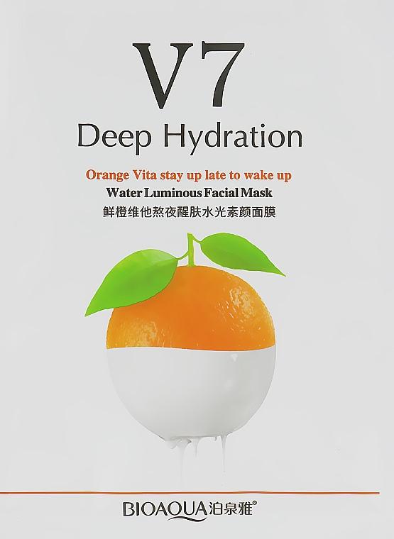 Витаминная маска для лица с экстрактом апельсина и витаминами - Bioaqua V7 Toning Youth Mask