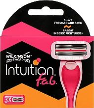 """Духи, Парфюмерия, косметика Сменные кассеты для бритья """"Великолепное двунаправленное бритье"""", 3 шт - Wilkinson Sword Intuition F.A.B"""