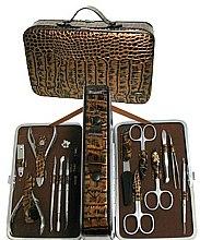 Духи, Парфюмерия, косметика Маникюрный набор MS-BC-830-SM, матовое серебро - Zinger