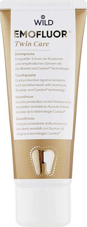 Профессиональная зубная паста с двойной защитой от эрозии и уменьшения повышенной чувствительности зубов - Dr. Wild Emofluor Pro Twin Care