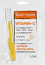"Духи, Парфюмерия, косметика Тканевая маска для лица, интенсивная ""Витамин C"" - Beauty Derm Vitamin-C Face Mask Sheet"