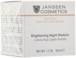 Духи, Парфюмерия, косметика Осветляющий ночной крем - Janssen Cosmetics Brightening Night Restore