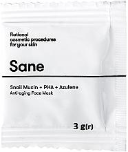 Духи, Парфюмерия, косметика Маска для лица с муцином улитки - Sane Anti-aging Face Mask (пробник)