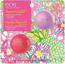 """Духи, Парфюмерия, косметика Набор бальзамов для губ """"Сладкий кокос и экзотический пунш"""" - EOS Tropical Escape Pink Coconut & Island Punch Lip Balm (balm/7ml+balm/7ml)"""